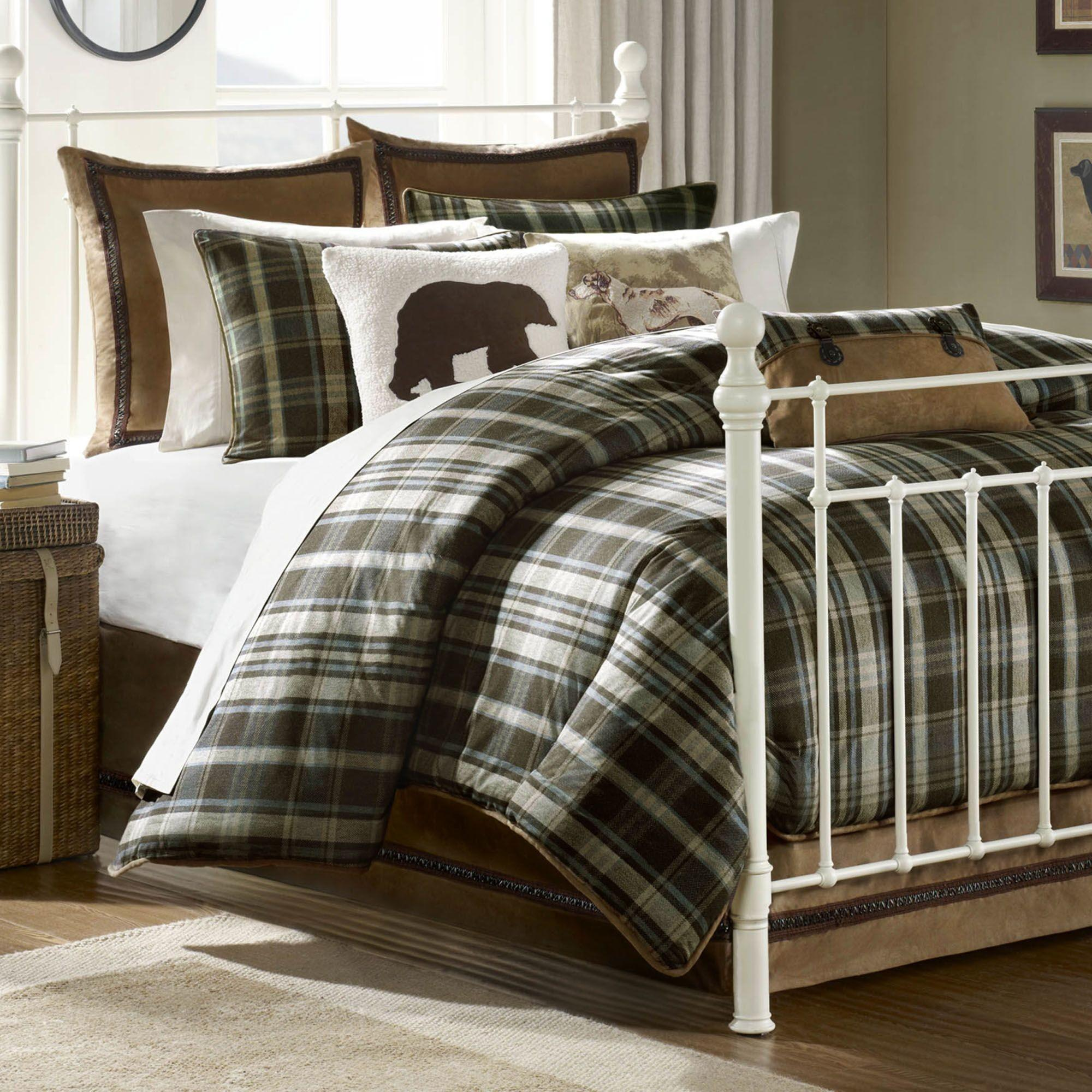 Bedroom Awesome White Beds Design Plaid Comforter
