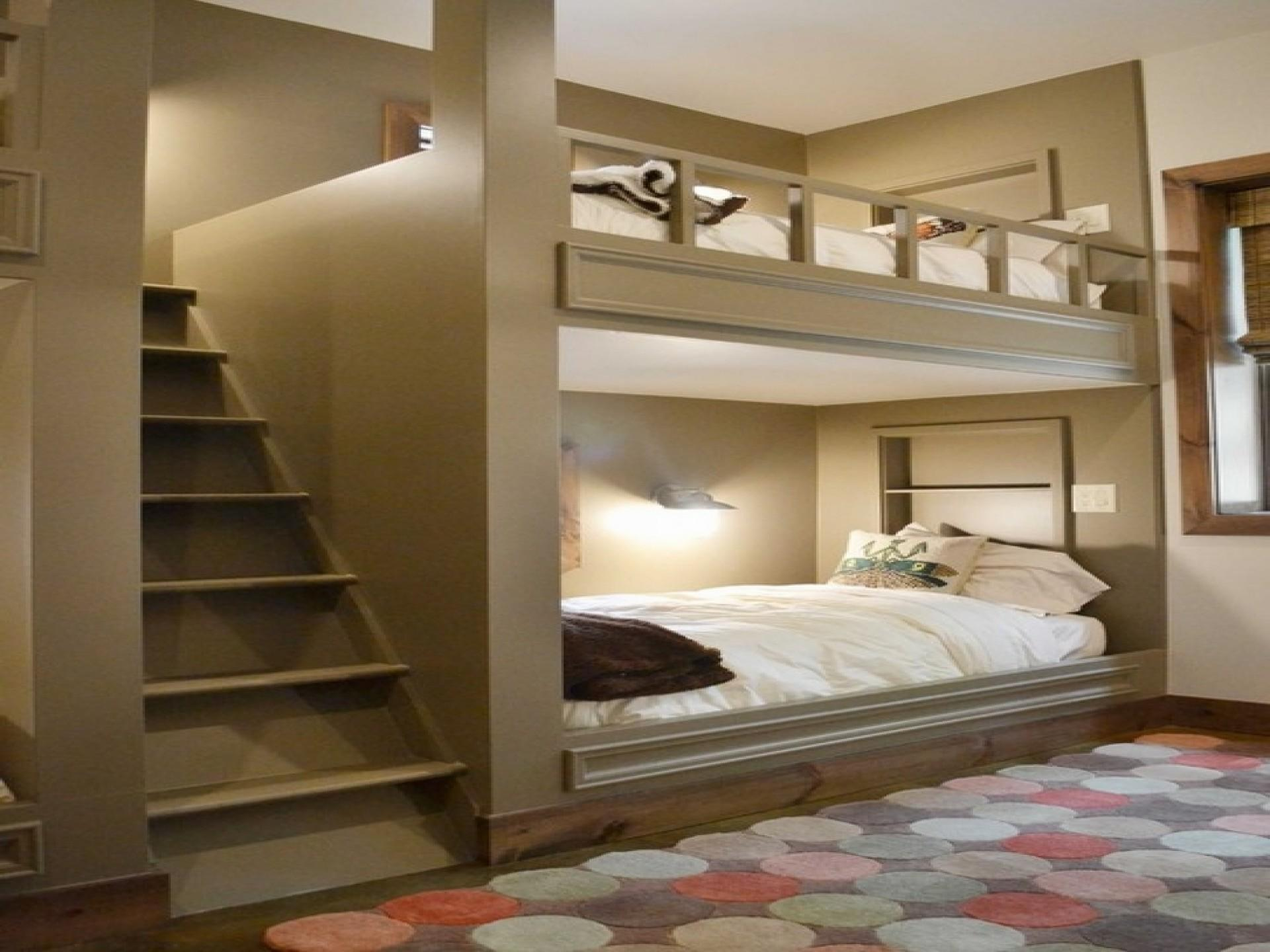 Bedroom Bunk Beds Stairs Desk Girls Window
