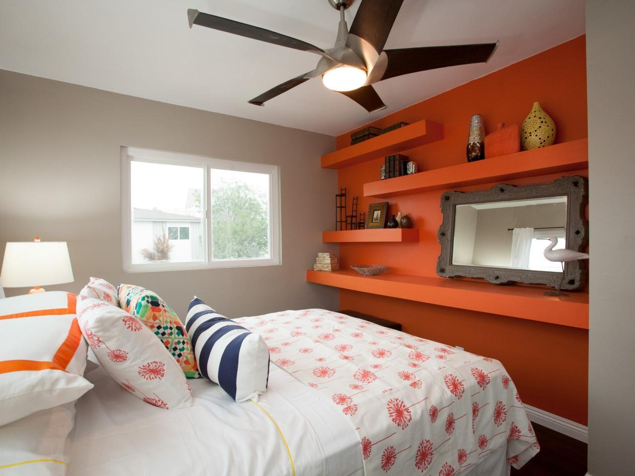Bedroom Contrast Way Accent Wall Ideas