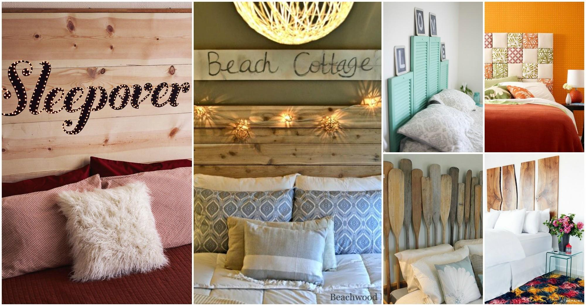 Bedroom Creative Headboard Ideas Barn Wood