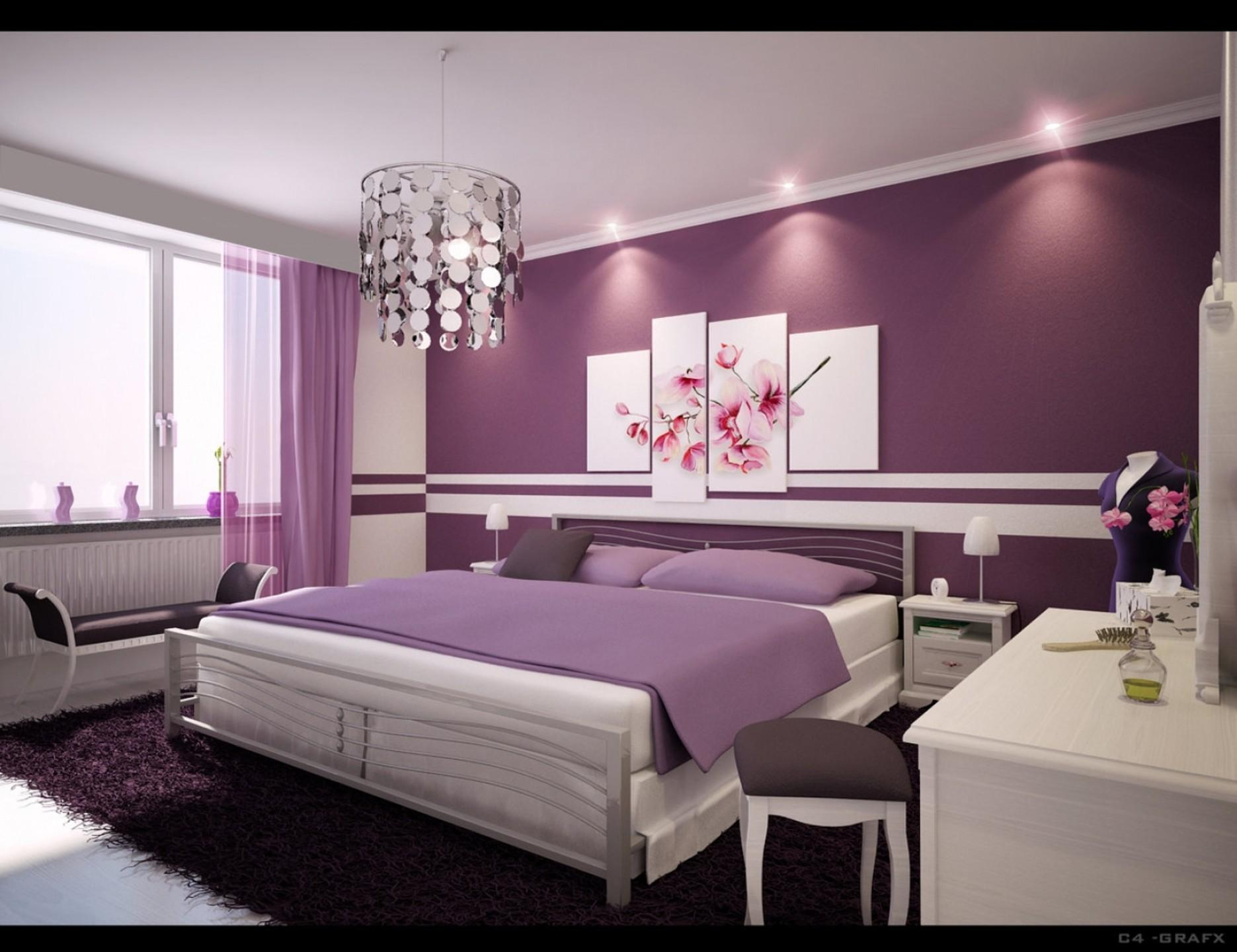 Bedroom Cute Decoration Teenager Room Ideas Purple