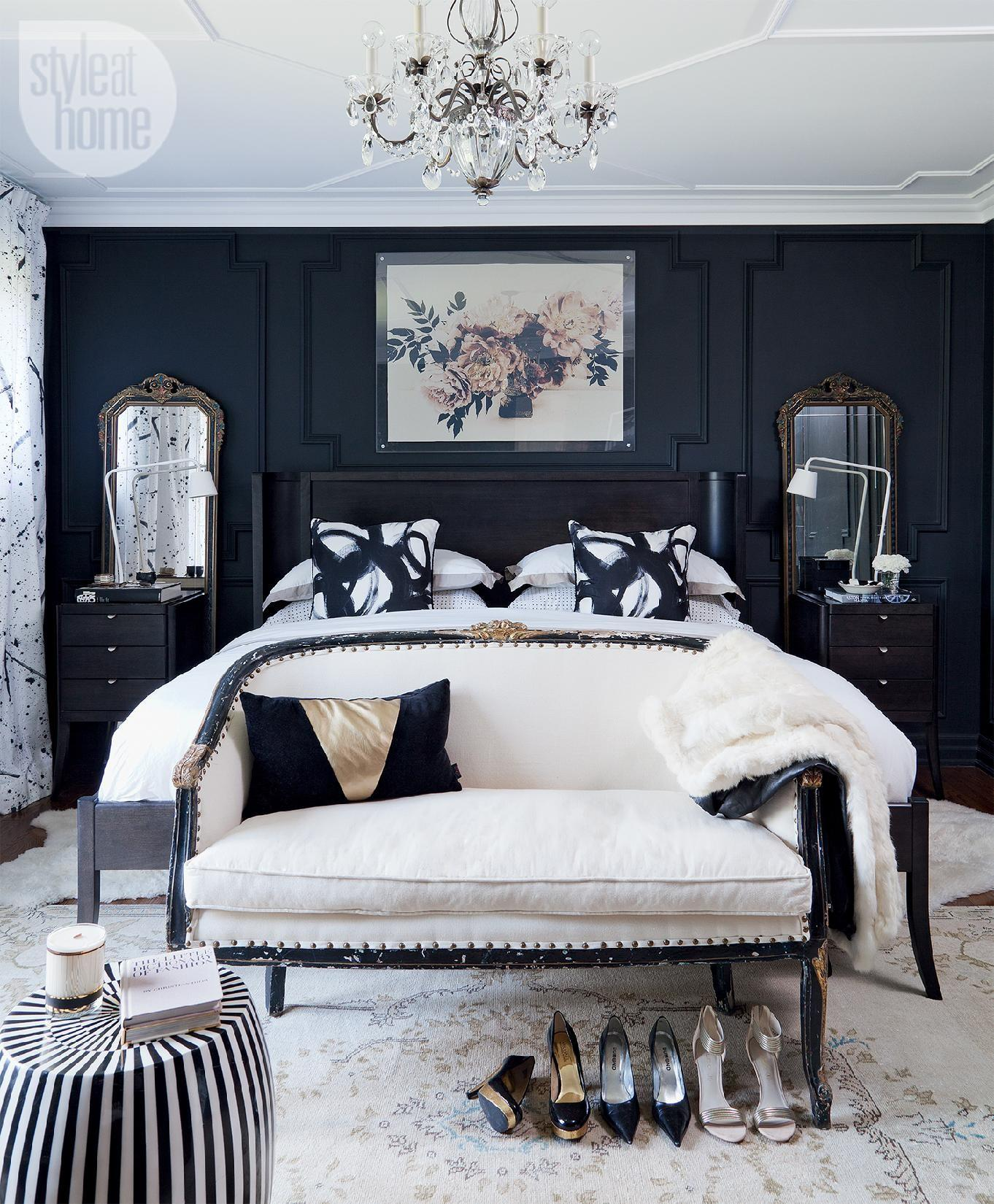 Bedroom Decor Moody Dramatic Master Suite Style Home