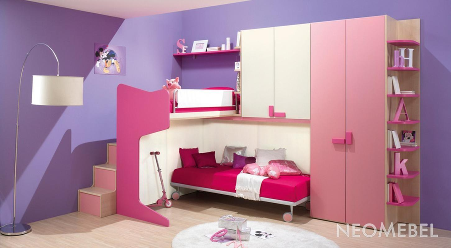 Bedroom Decorating Paint Pink Purple Color Theme