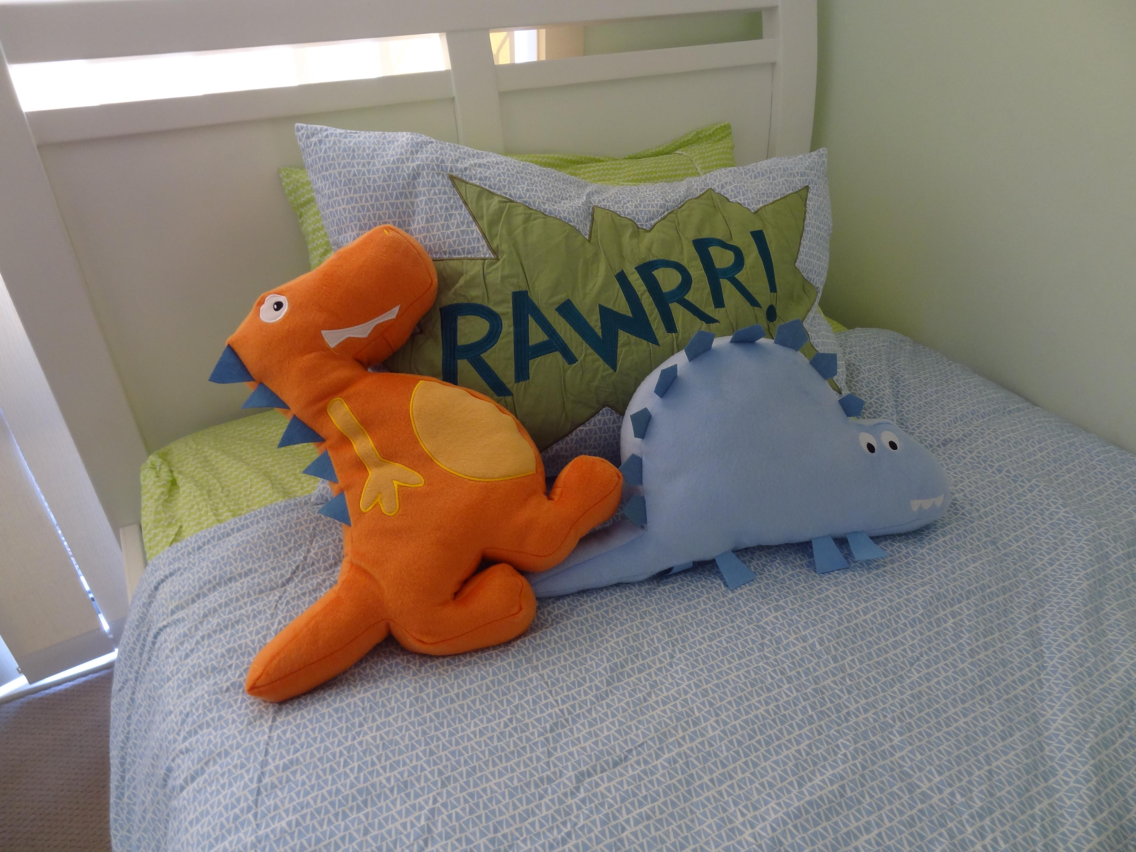 Bedroom Dinosaur Loving Boy There Crooked