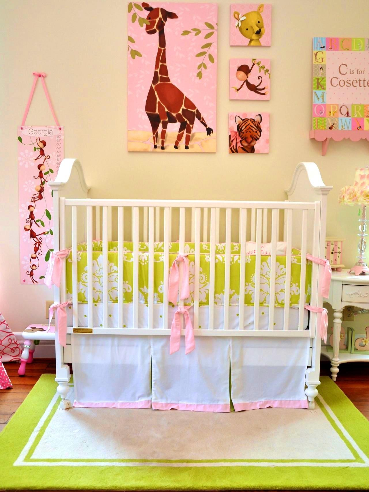 Bedroom Exciting Pink Green Nursery Decor