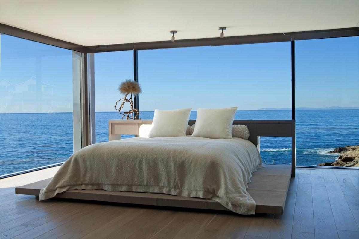 Bedroom Glass Walls Ocean Views Beach House Laguna