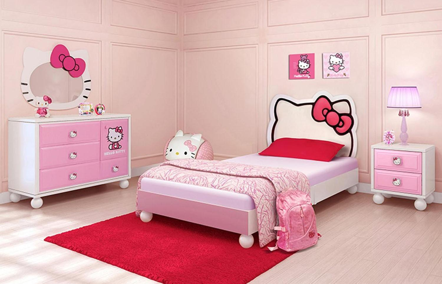 Bedroom Hello Kitty Cool Shaped Beds