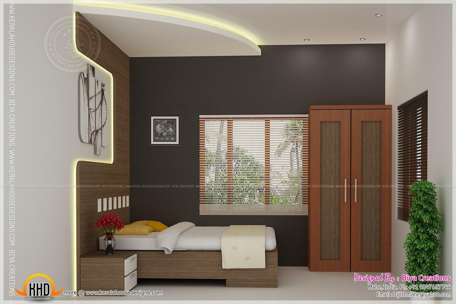 Bedroom Kid Kitchen Interior Kerala Home
