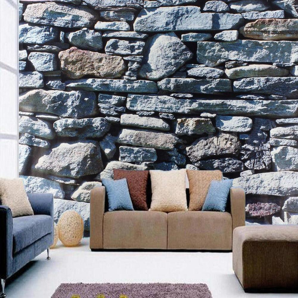 Bedroom Living Mural Roll Luxury Stone Wall