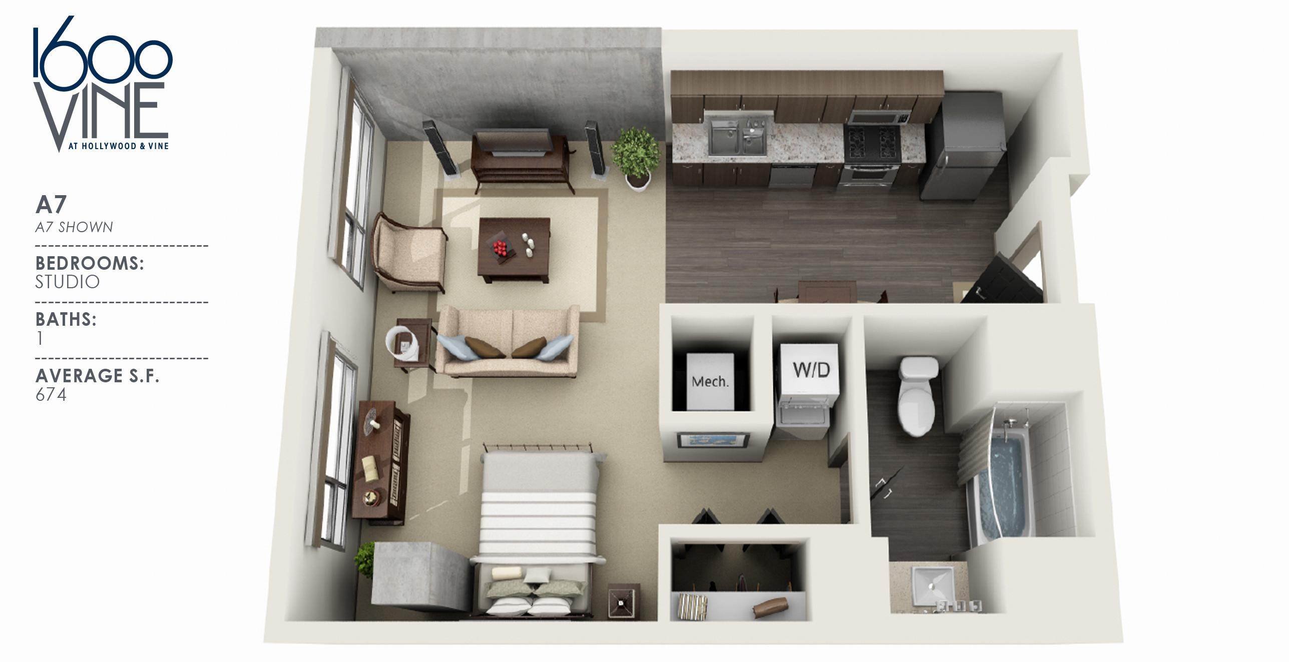 Bedroom New Cheap One Apartments Design