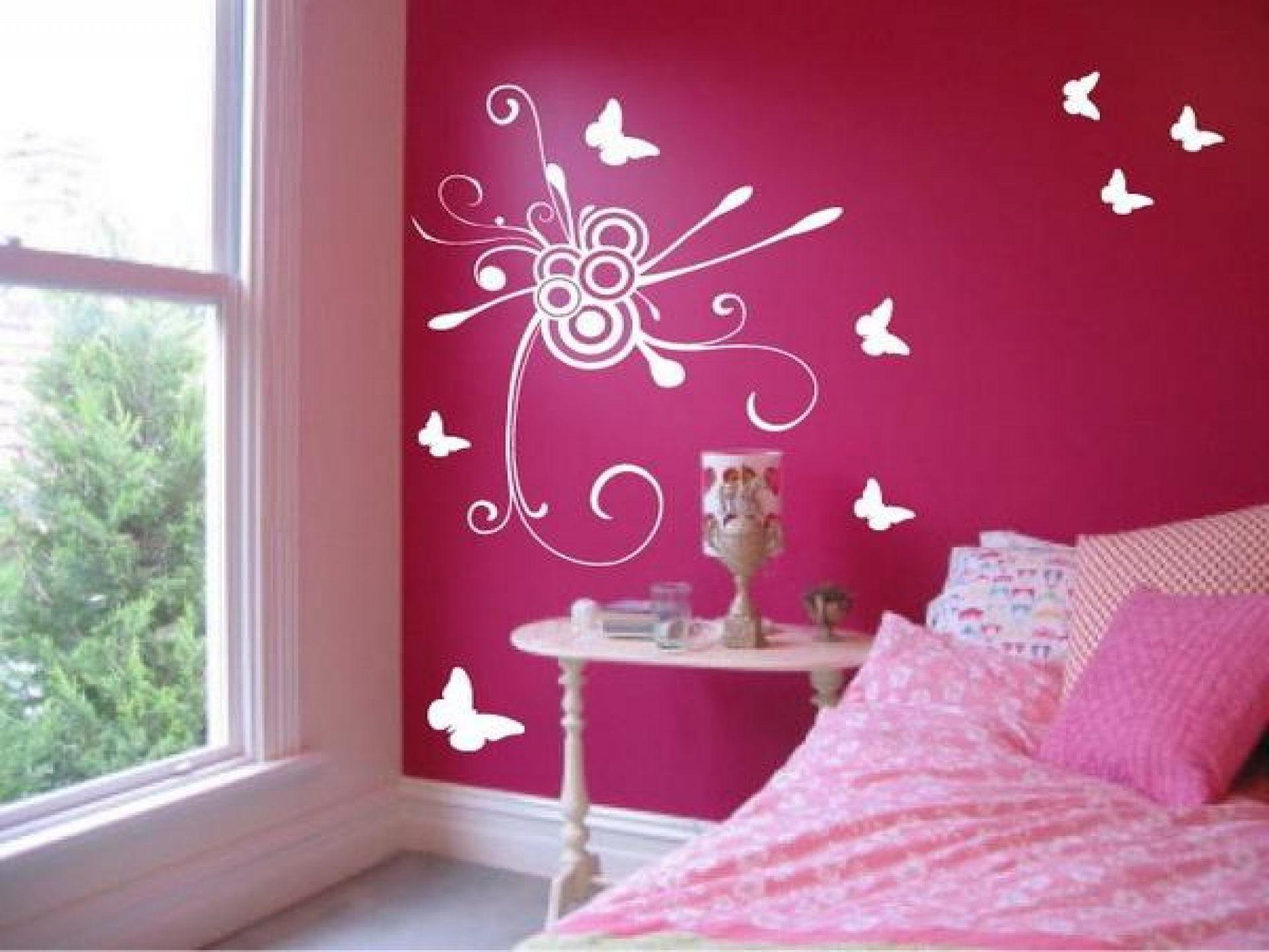 Bedroom Pink Wall Paint Color Decorating Ideas Blue