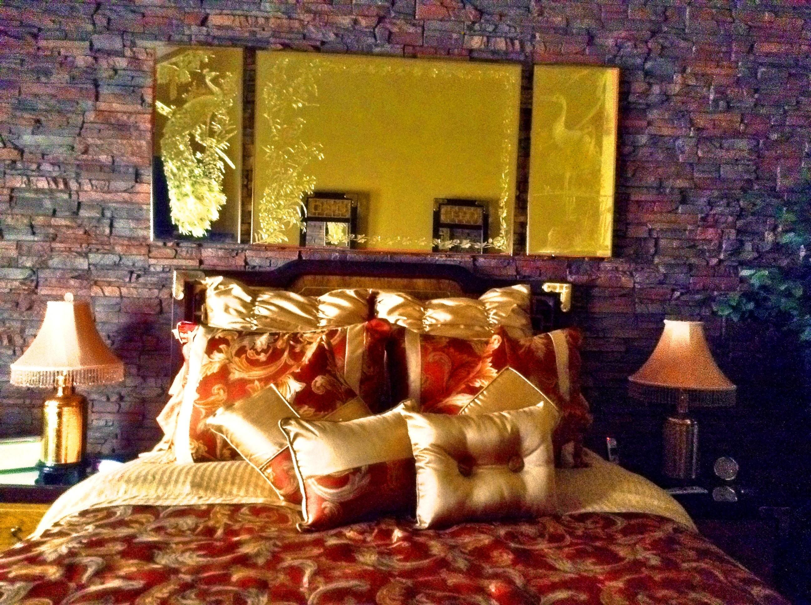 Bedroom Remodel Stacked Stone Wall Creative Faux Panels