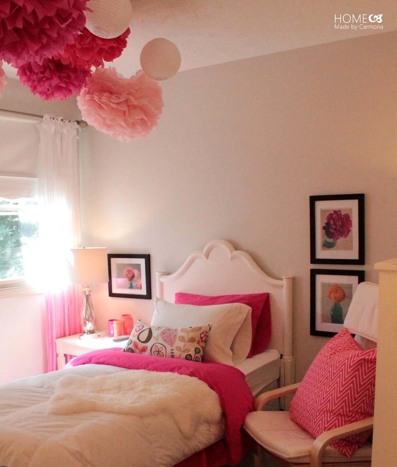 Bedroom Simple Decorating Ideas Princess Pink
