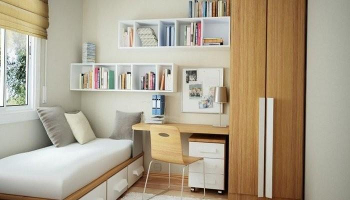 Bedroom Wall Bookcase Put Bookshelf