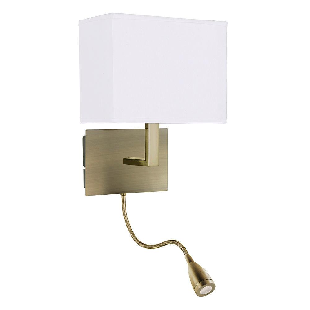 Bedroom Wall Light Bedside Reading Lamp Antique Brass