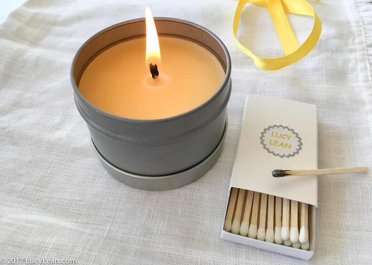 Beeswax Travel Candle Easy Gift Make Give