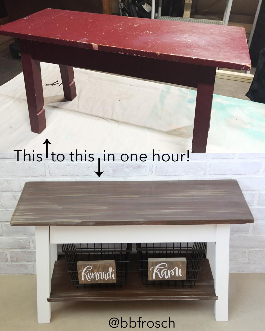Before After Bench Chalk Paint Powder Bbfrosch