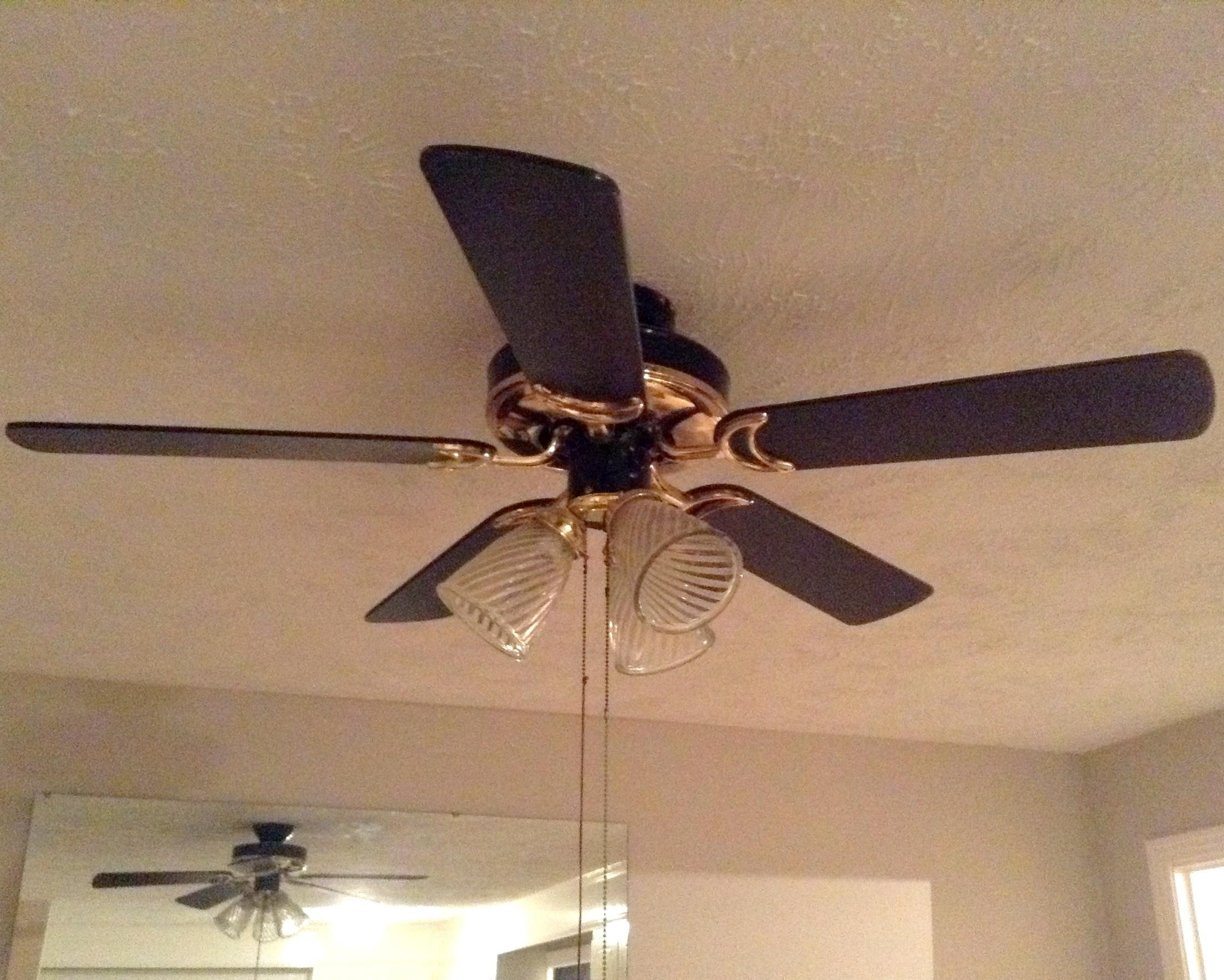 Before After Ceiling Fan Makeover Budget