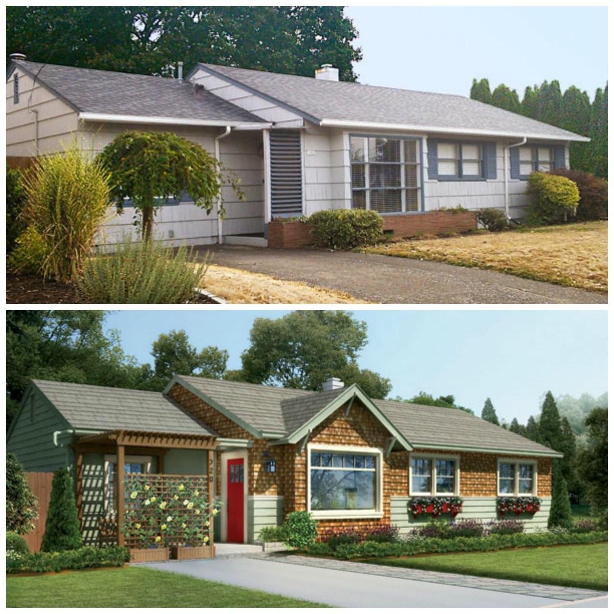 Before After Craftsman Inspired Upgrades Give 1950s