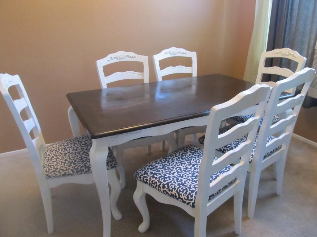 Before After Diy Dining Table Makeover Pretty