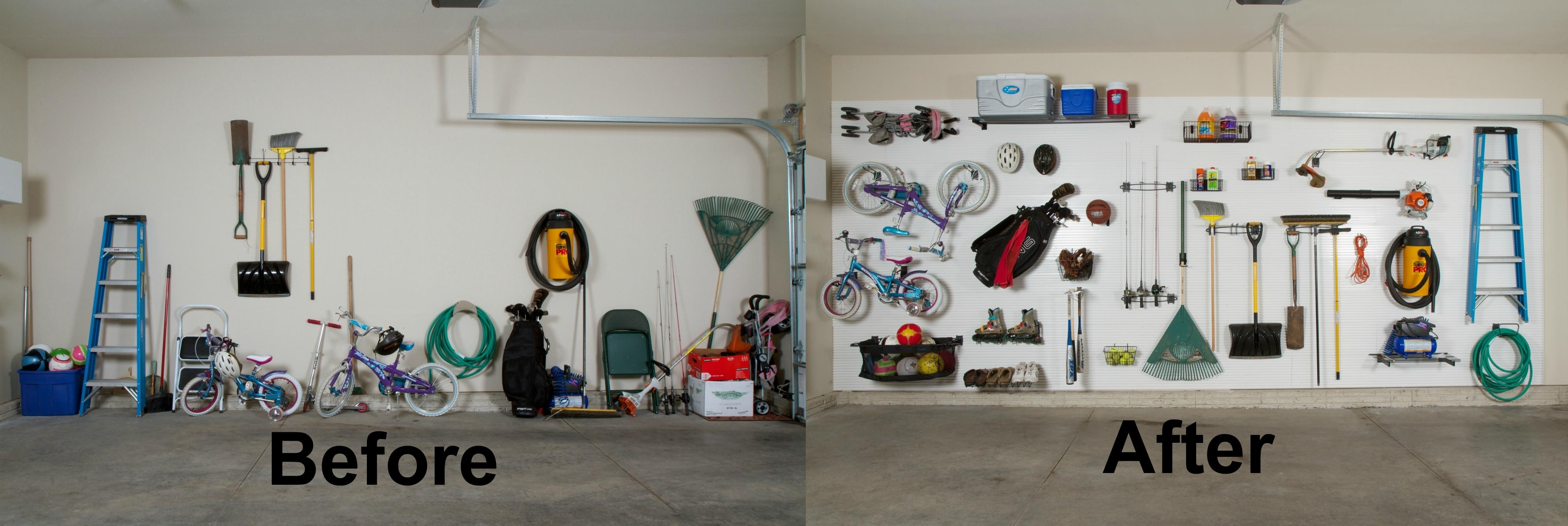 Before After Diy Garage Organization Ideas