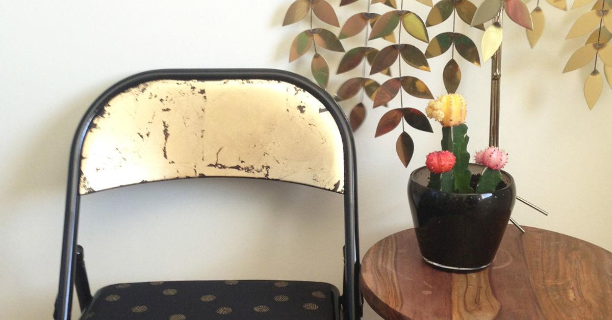 Before After Folding Chair Makeover Hometalk