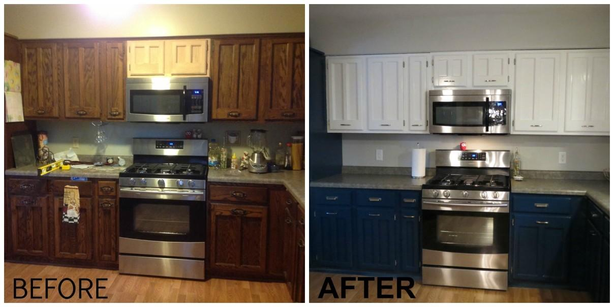 Before After Painted Kitchens