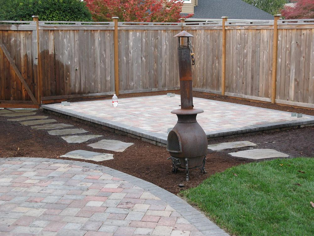 Before After Paver Patio Landscape Eugene Springfield