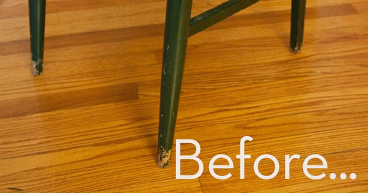 Before After Worn Dated Chair Gets Bright