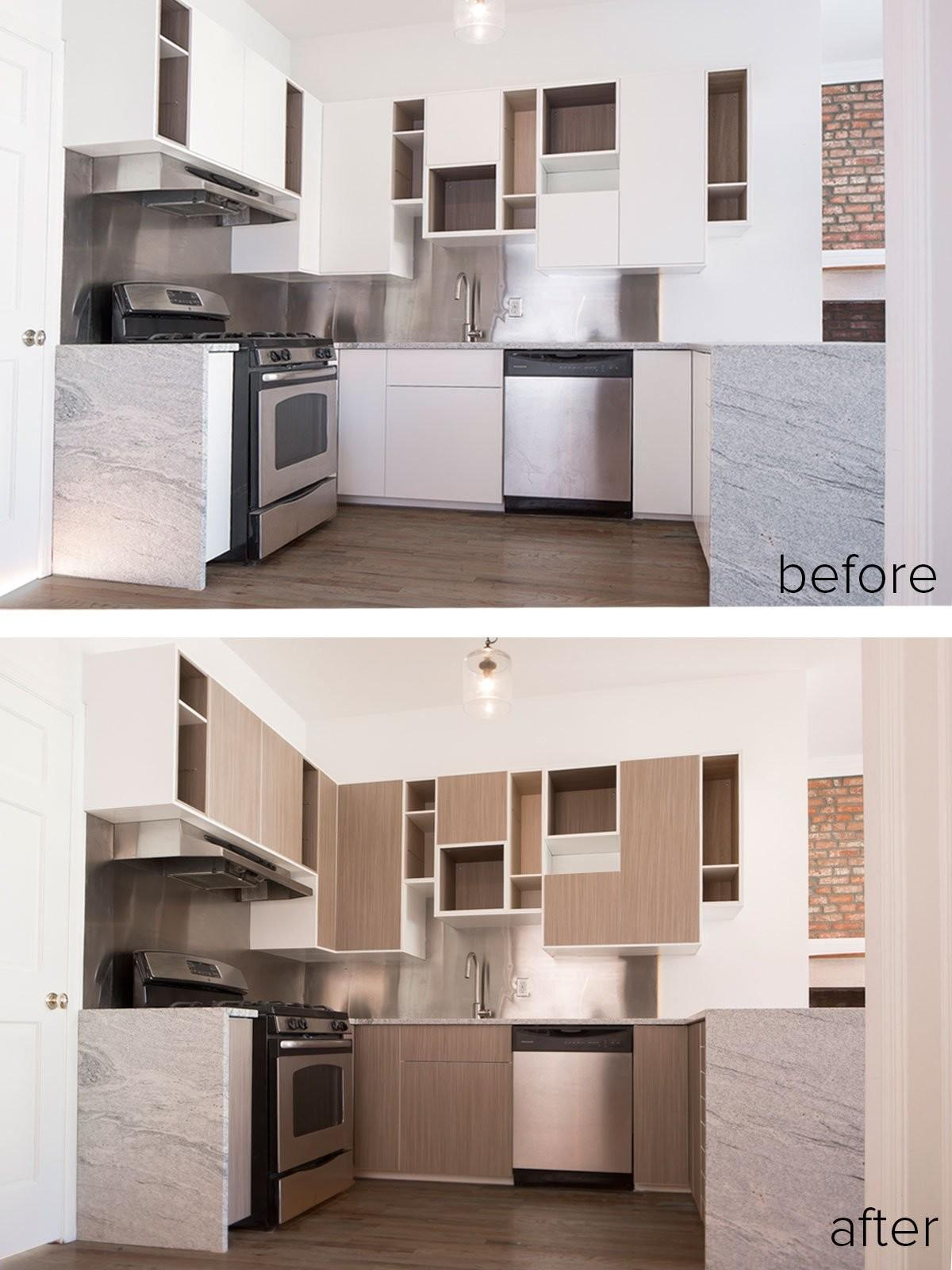 Before During After Panyling Sektion Kitchen