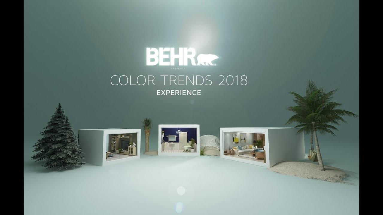 Behr Color Trends 2018 360 Experience