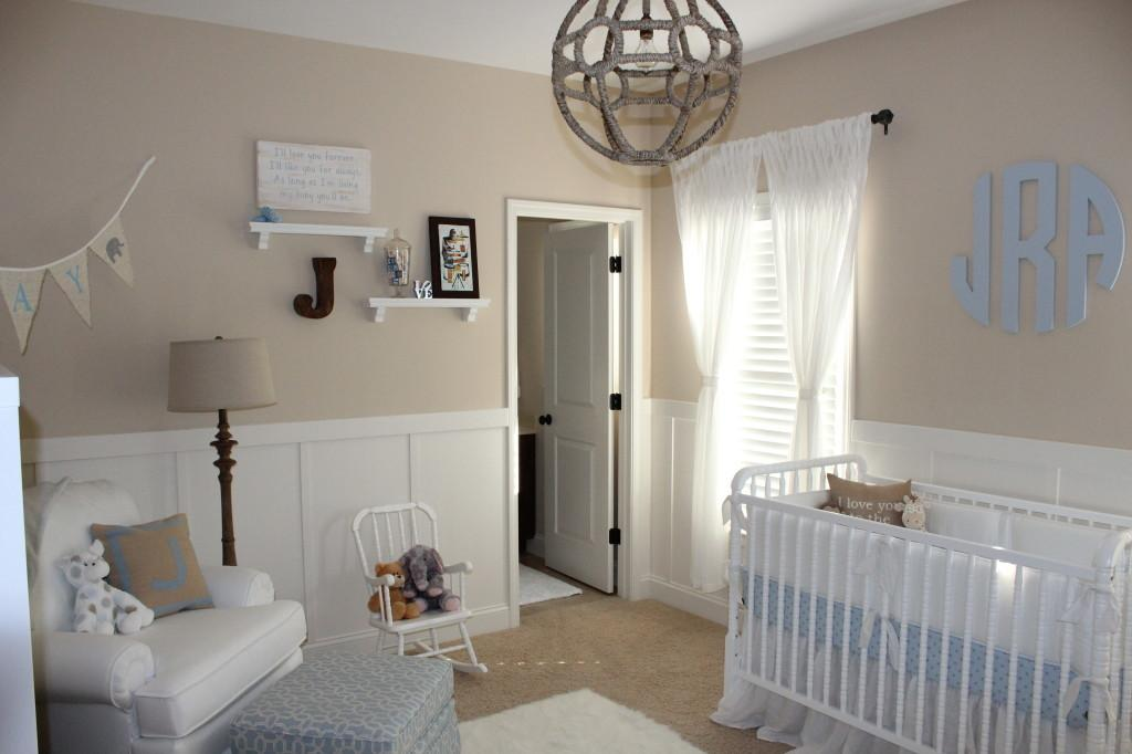 Beige White Neutral Nursery Baby Boy Project