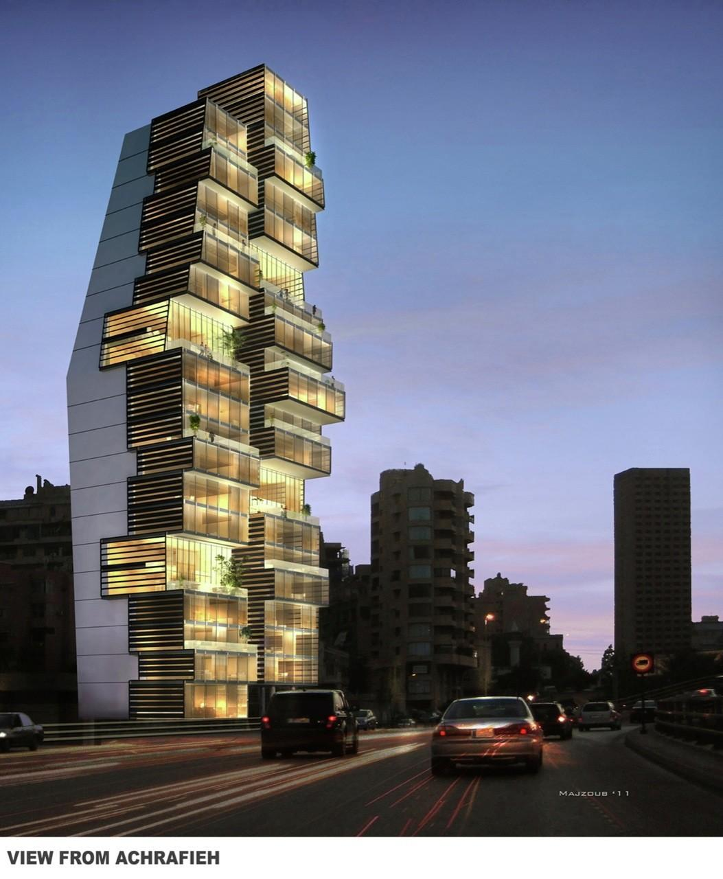 Beirut Residential Building Accent Design