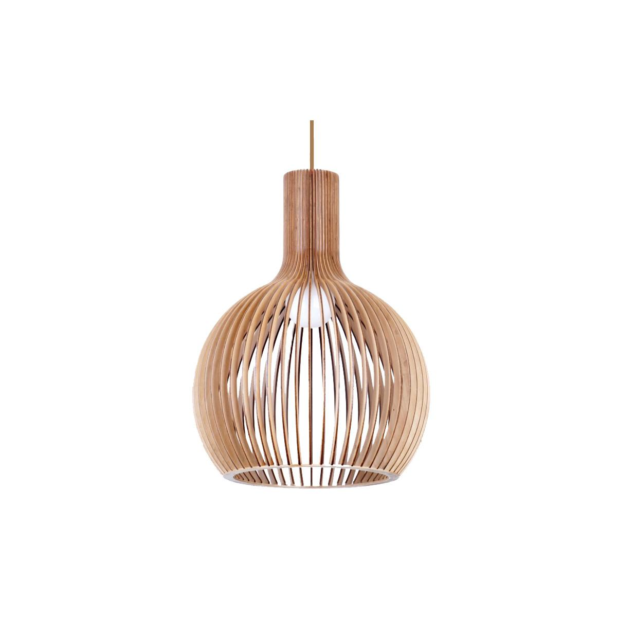 Bell 580 Wooden Pendant Light P1063bell580 Led