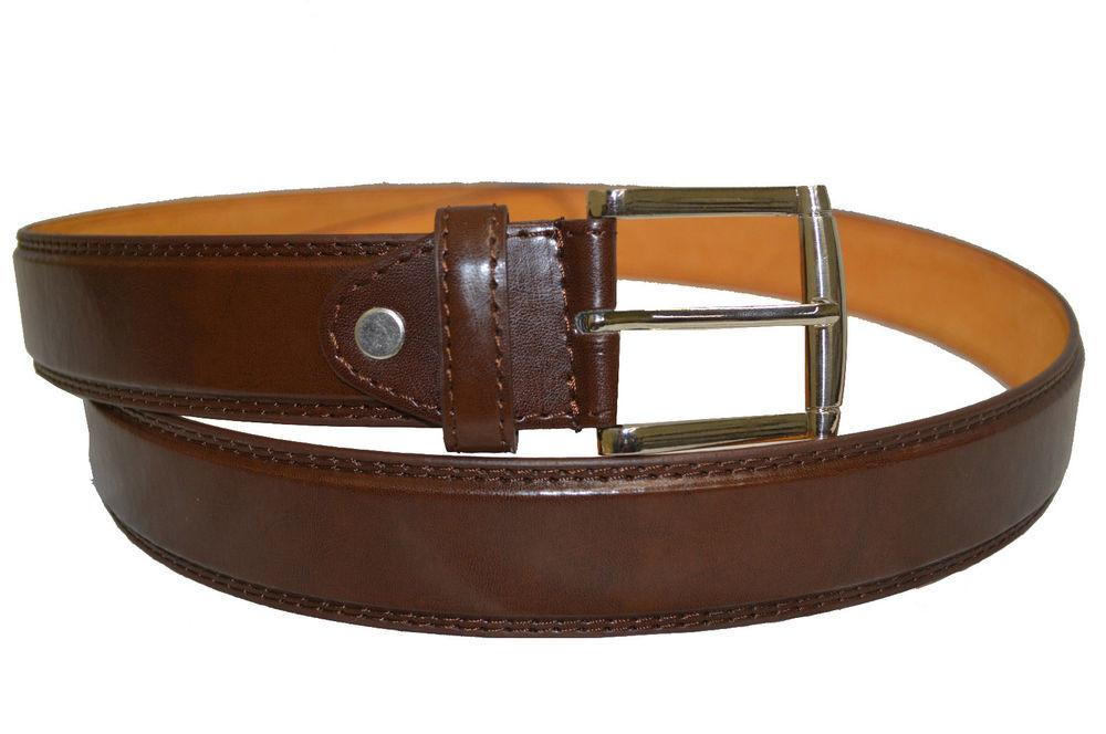 Belt Mens Jeans Brown All Sizes Genuine Leather