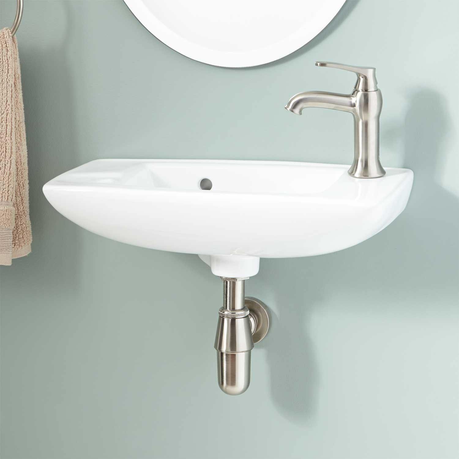 Belvidere Porcelain Wall Mount Bathroom Sink