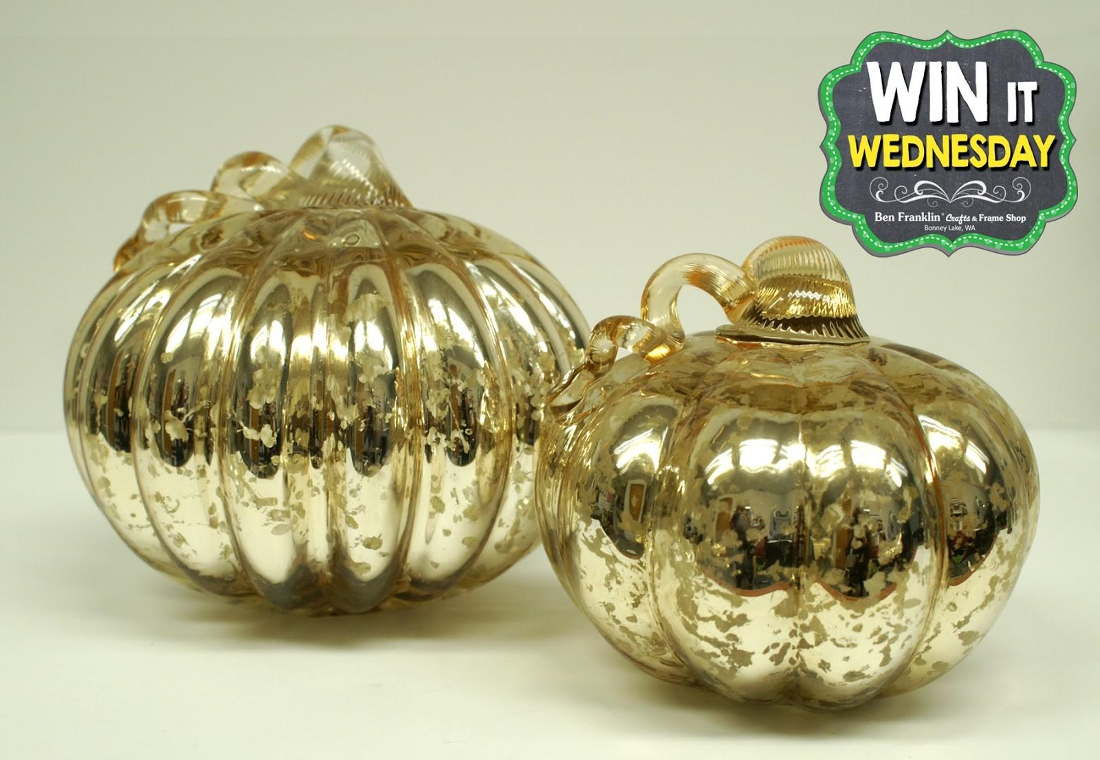 Ben Franklin Crafts Frame Shop Win Wed Glass Pumpkins