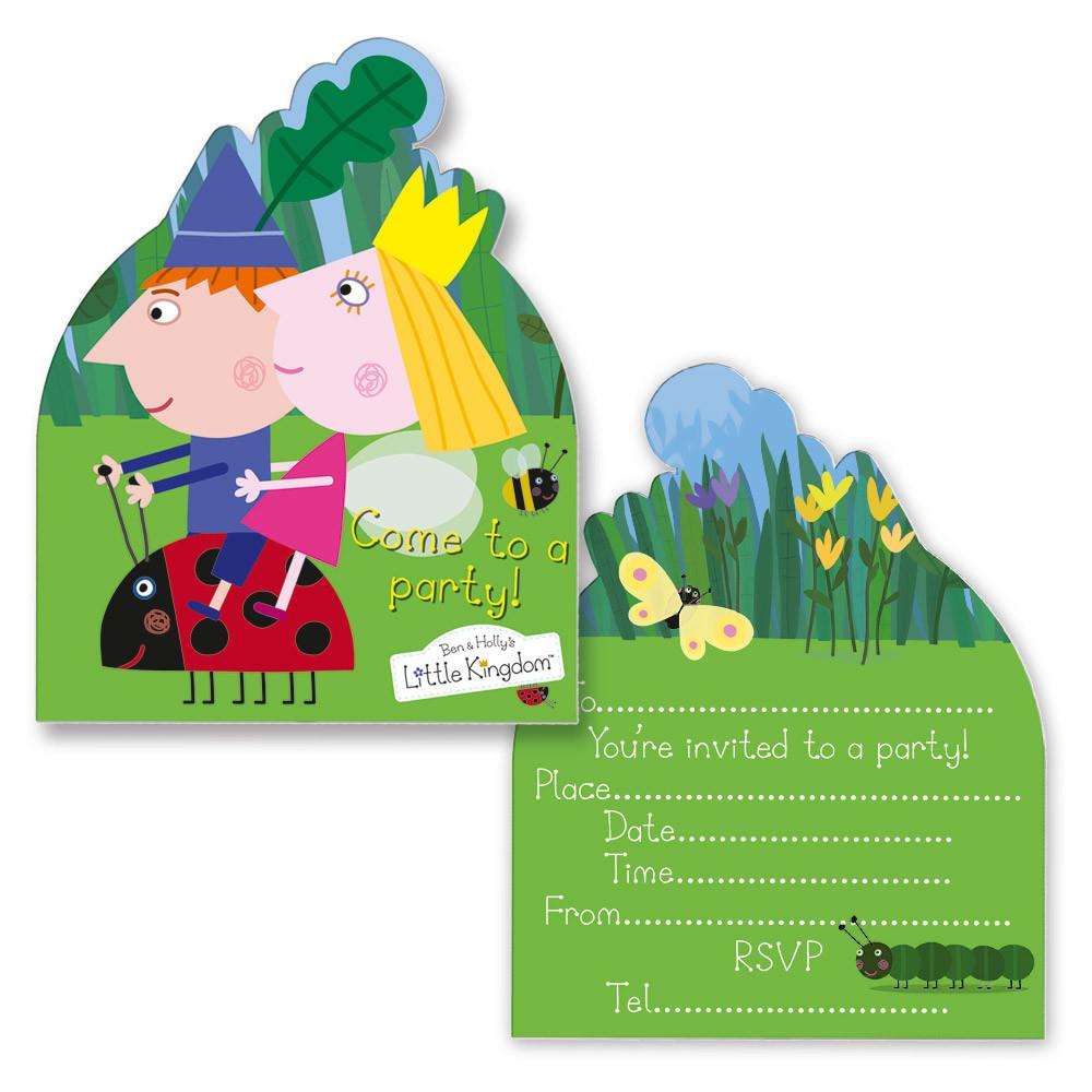 Ben Holly Invitation Cards Theme Birthday