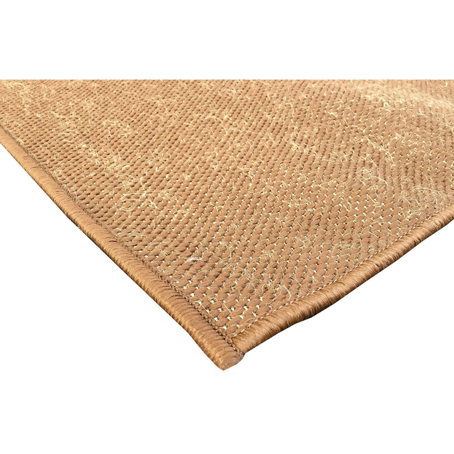 Berrnour Home Summer Brown Indoor Outdoor Area Rug