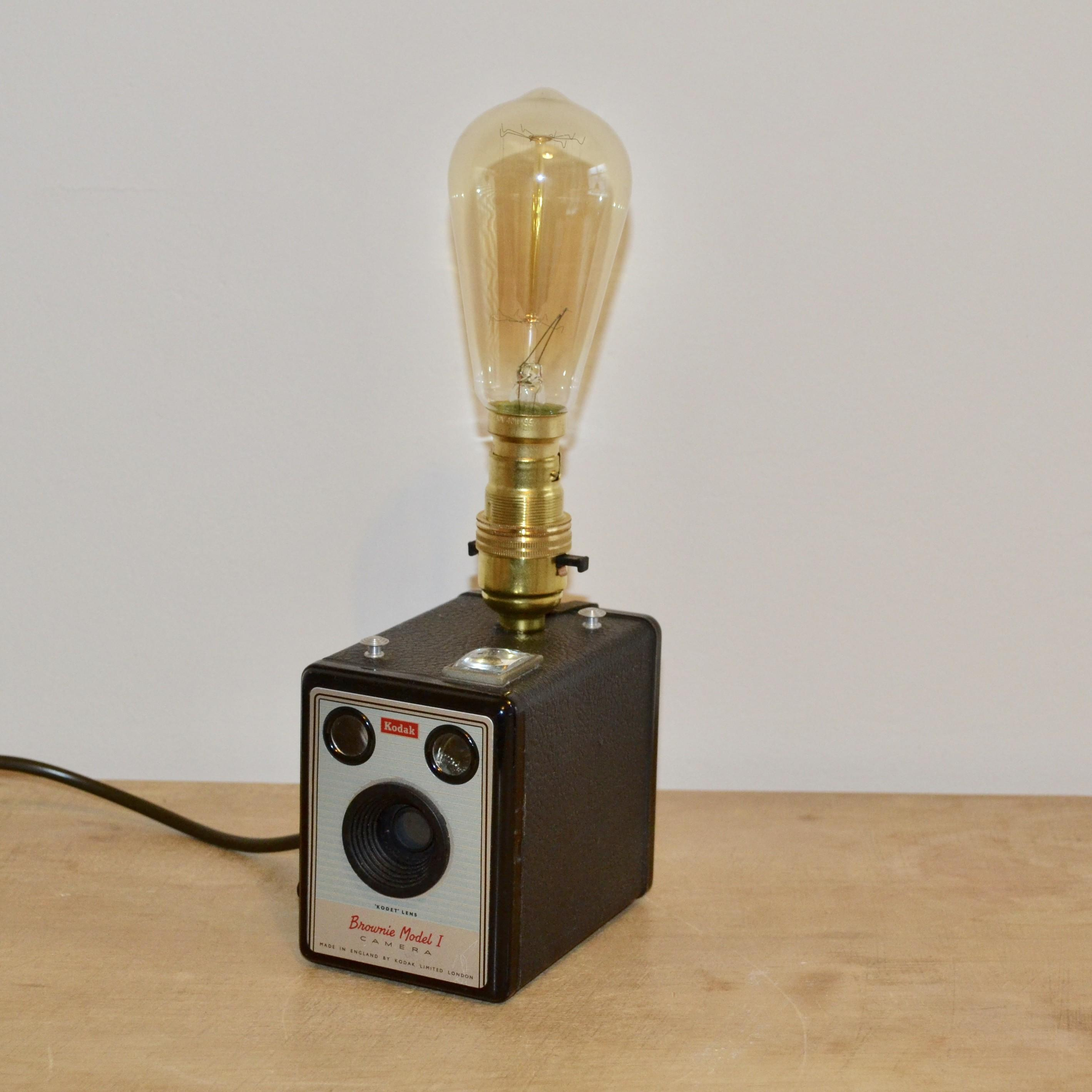 Bespoke Vintage Camera Lamp
