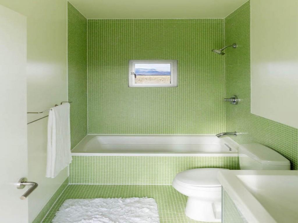 Best Bathroom Light Green Small Tile