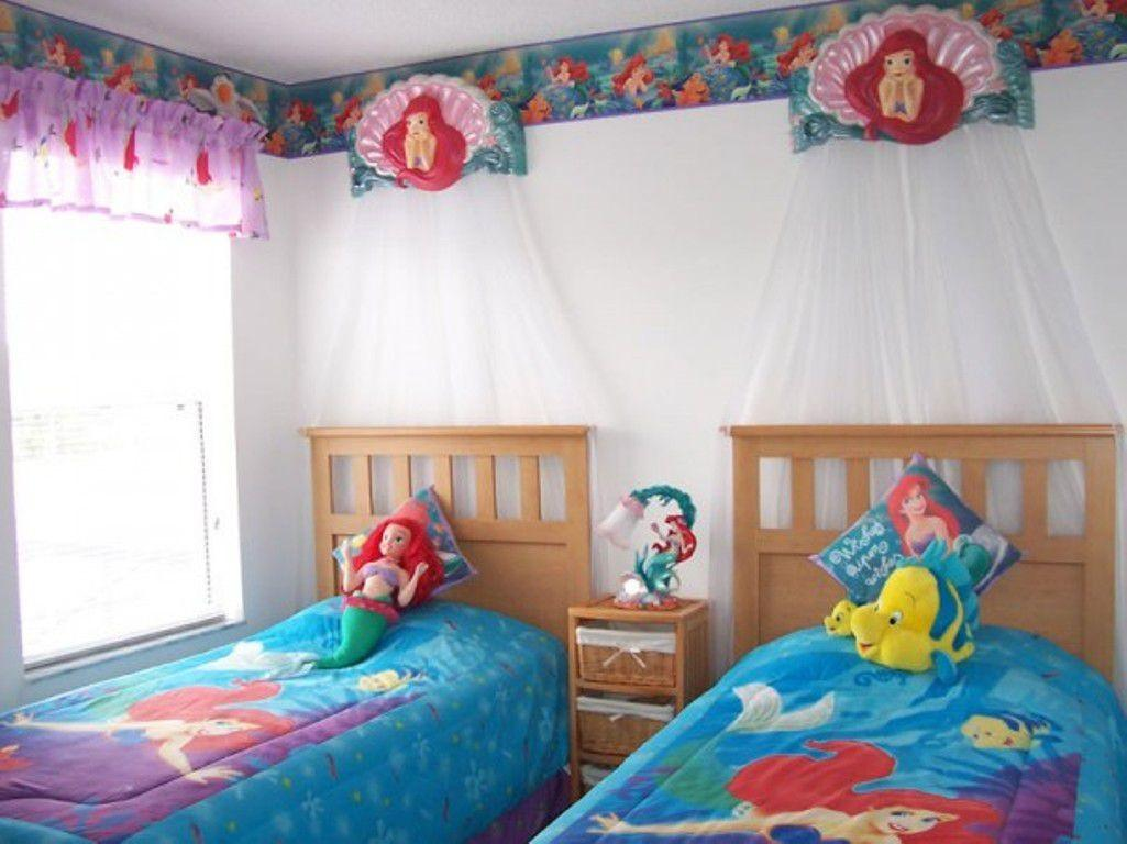 Best Bedroom Simple Kids Twin Blue Little Mermaid
