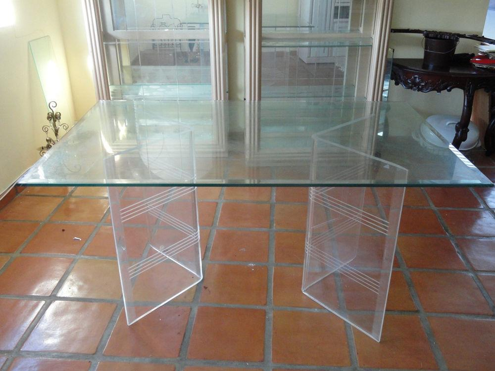 Best Chic Double Lucite Flying Base Dining Table