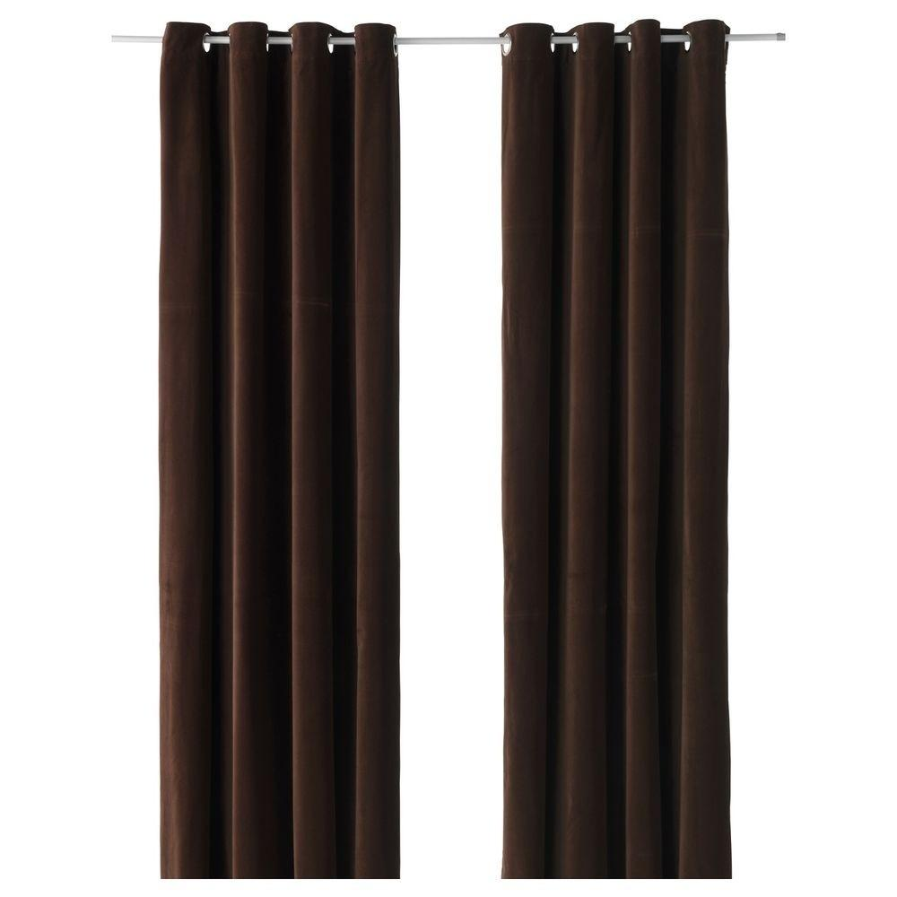 Best Collection Dark Brown Velvet Curtains Curtain