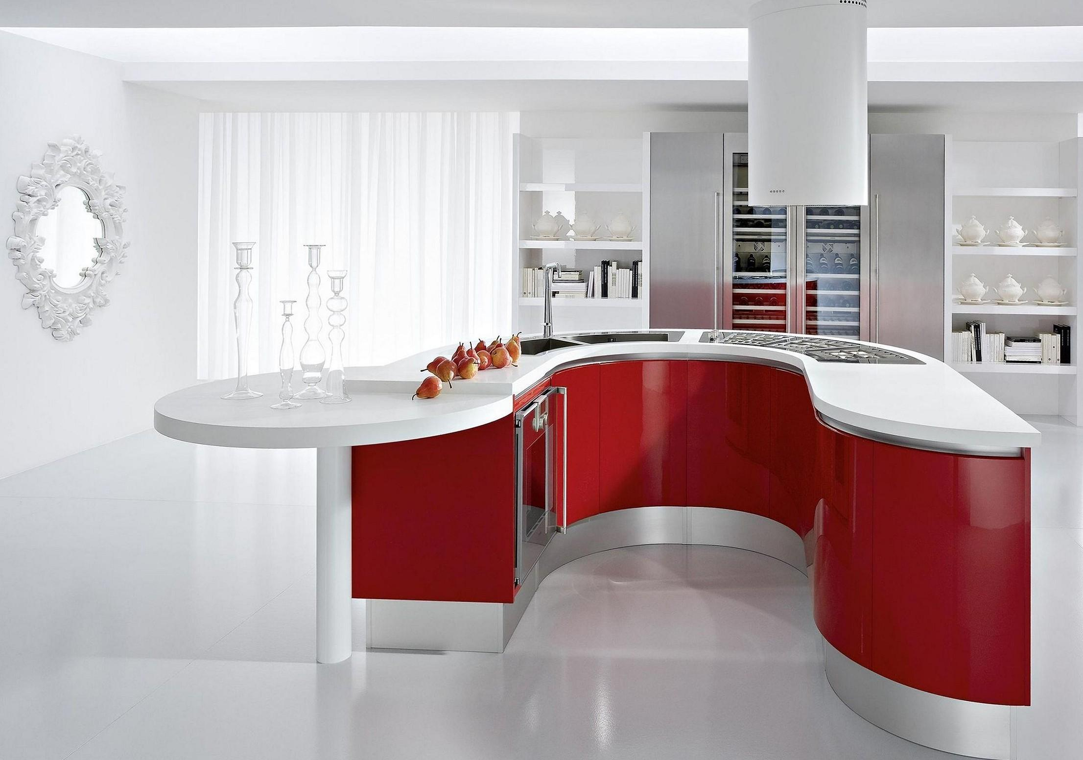Best Cool Red Kitchen Cabinets Dream Home
