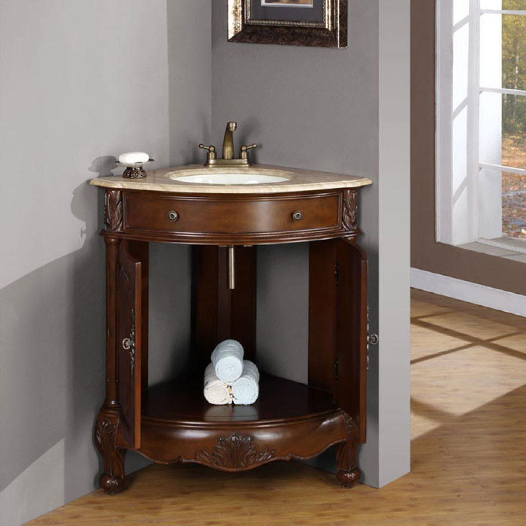 Best Corner Bathroom Vanity Your Bath Ward Log Homes