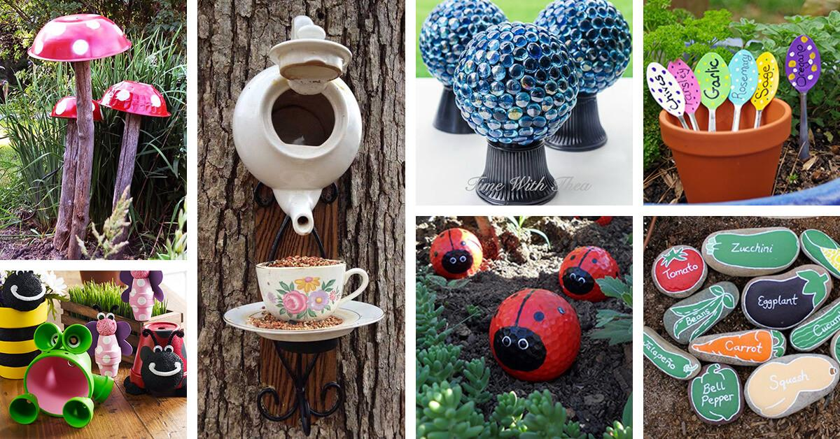 Best Diy Garden Crafts Ideas Designs 2018