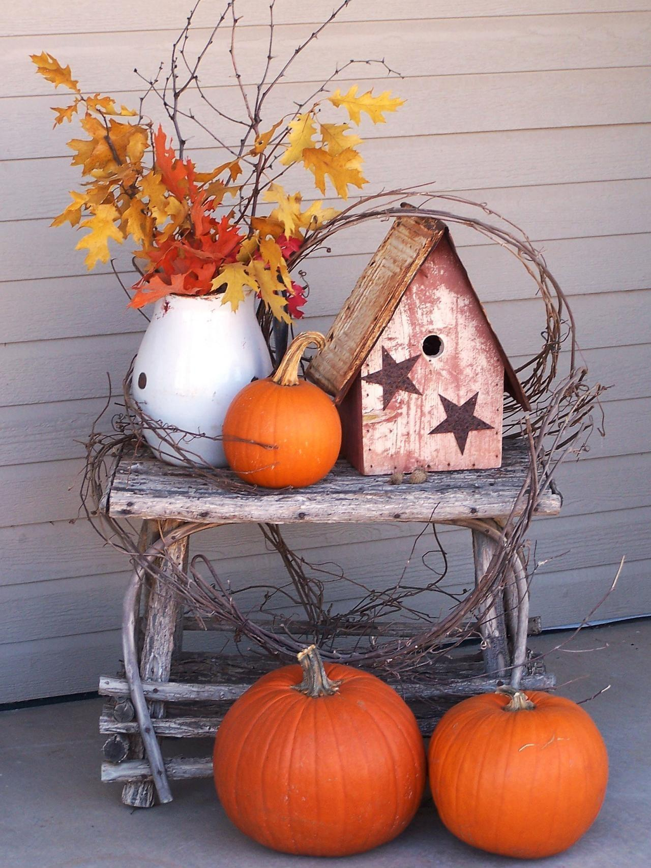 Best Fall Porch Decorating Ideas Designs 2016