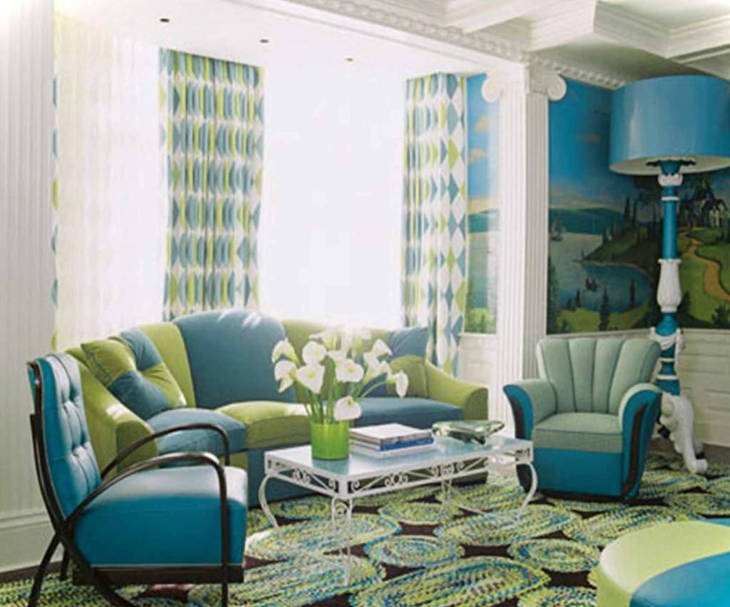 Best Green Blue Living Room Decor Your