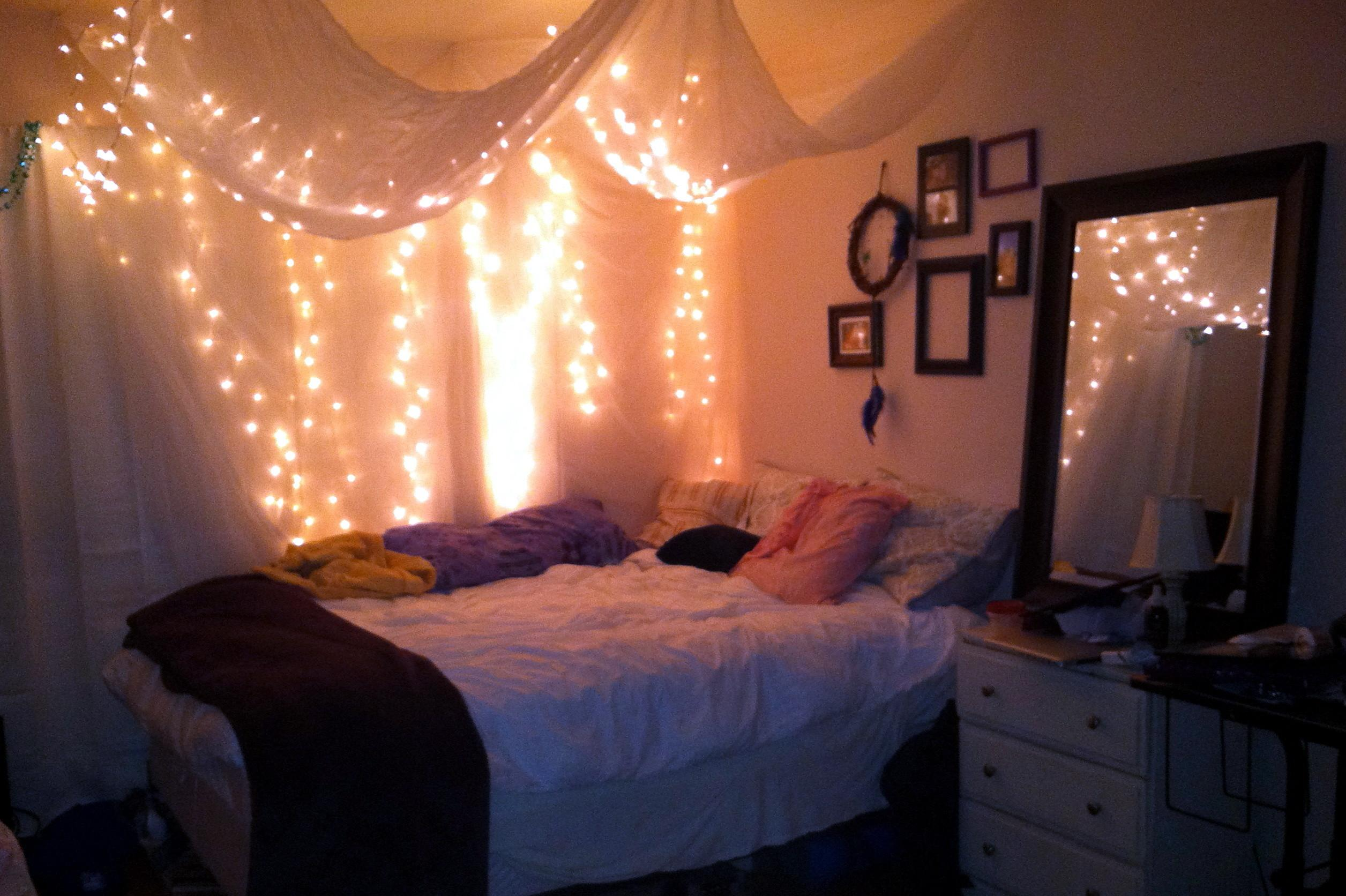 Best Ideas String Lights Bedroom Sensi Hanging